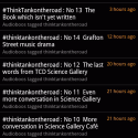 #ThinkTankOnTheRoad | Help listeners find relevant boos by using hash tags correctly. (@Omaniblog)