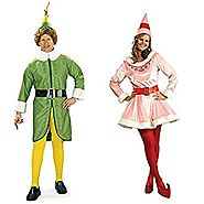 Buddy the Elf and Jovi Couples Costume Bundle Set