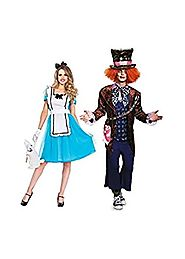 Mad Hatter and Alice Adventure Couple Costume Kit
