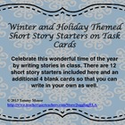 December Themed Technology Lessons | Free Winter and Holiday Themed Short Story Starters on Task Cards