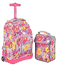 Roller Backpacks~Girls Rolling Book Bags - Bag The Web
