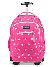 Roller Backpacks~Girls Rolling Book Bags - Bag The Web