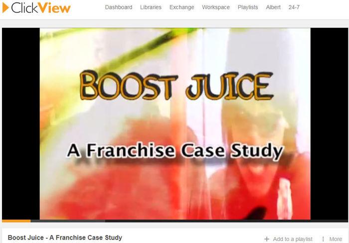 case study of boost juice bar