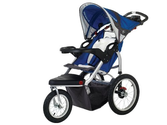 Best Rated Jogging Strollers | Schwinn Turismo Swivel Single Jogger, Blue/Gray