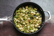 Diabetic Friendly Thanksgiving Dinner Recipes | Pan Seared Shredded Brussels Sprouts and Apples (The American Diabetes Association Vegetarian Cookbook)