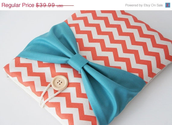 10% ON SALE Chevron 15 inch Laptop Sleeve - Macbook Air or Pro, Custom Size for Your Laptop - Laptop Cover, Padded Sl...