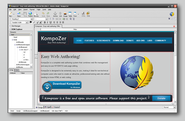 Open Source Software Titles | KompoZer - Easy web authoring