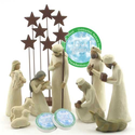 Willow Tree Creche | Willow Tree 10 Piece Starter Nativity Set By Susan Lordi with Go Green! Compressed Bamboo Towels