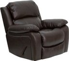 Man Cave Furniture Ideas | Man Cave Furniture Brown Leather Rocker Recliner