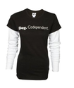 """Dog. Codependent"" Thermal Twofer Layered Look Long Sleeved T-shirt by Dog Is Good"
