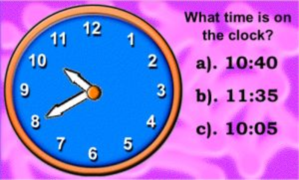 Telling Time Interactive Clock Games