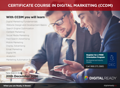 A new batch for Certificate Course in Digital Marketing (CCDM) is going to start from 20th December 2014. We are cond...