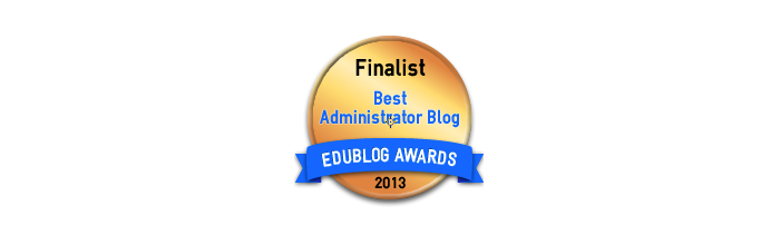 Headline for Best School Administrator or Principal Blog 2013 - Edublog Awards