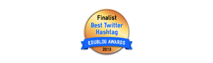 Headline for Best Twitter Hashtag For Education 2013 - Edublog Awards
