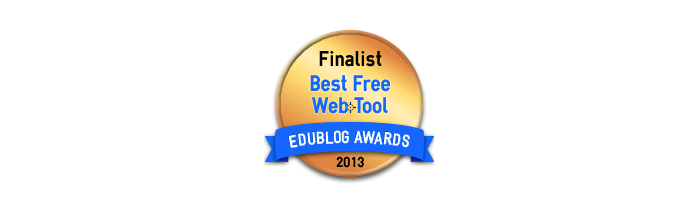 Headline for Best Free Education Web Tool 2013 - Edublog Awards