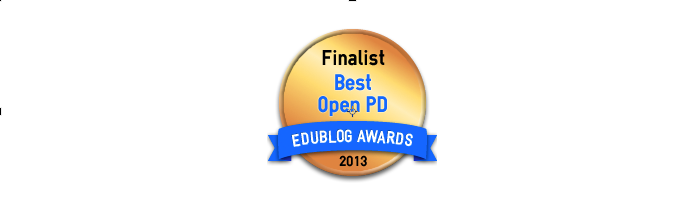 Headline for Best Open PD / Webinar/ Unconference Series 2013 - Edublog Awards