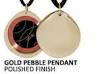 Best EMF Protection Jewelry | Gold Pebble SRT-3 Q-Link Pendant (Polished)