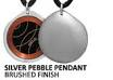 Best EMF Protection Jewelry | Silver Pebble SRT-3 Q-Link Pendant (Brushed)