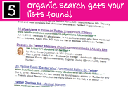 Organic Search Gets Your List Found
