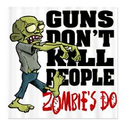 Zombie Shower Curtain Set | Guns Don't Kill People - Zombie's Do Shower Curtai on CafePress.com