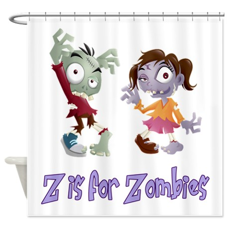 Headline for Zombie Shower Curtain Set