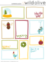 Free Christmas Tags | Tags by Wild Olive