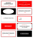 Free Christmas Tags | Tags by Design Editor