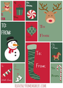 Free Christmas Tags | Tags by Heavenly Homemakes