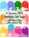 Free Christmas Tags | Colorful Holiday Tags by I Gotta Create!
