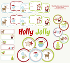 Free Christmas Tags | Cheery Holiday Gift Tags by Ink Tree Press