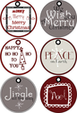 Free Christmas Tags | Merry Christmas Gift Tags by Poppies at Play