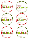 Free Christmas Tags | Happy Holidays Gift Tags by Mommy by day Crafter by night