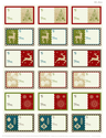 Free Christmas Tags | Classic Christmas Tags by WorldLabel