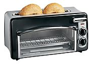 Best Rated Toaster Oven | Hamilton Beach 22708 Toastation 2-Slice Toaster and Mini Oven, Black