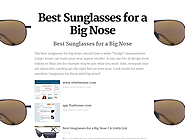 Best Sunglasses for a Big Nose | Best Sunglasses for a Big Nose
