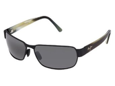 Best Sunglasses for a Big Nose | New Maui Jim Black Coral 249-2M Matte Black/Neutral Grey 65mm Polarized Sunglasses