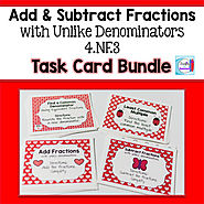Add and Subtract Fractions with Unlike Denominators Bundle by Mercedes Hutchens