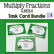 Multiply Fractions Bundle Task Cards and PowerPoint by Mercedes Hutchens