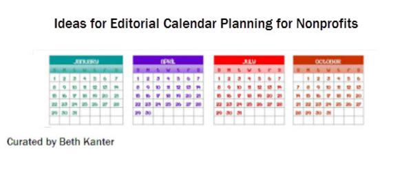 Nonprofit Editorial Calendar Planning - Ideas