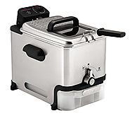 Best Electric Deep Fryers | T-fal FR8000 Oil Filtration Ultimate EZ Clean Easy to clean 2.6-Pound / 3.5-Liter Fry Basket Stainless Steel Immersio...