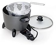 Best Electric Deep Fryers | Presto 06003 Options Electric Multi-Cooker/Steamer