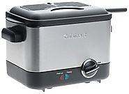 Best Electric Deep Fryers | Cuisinart CDF-100 Compact 1.1-Liter Deep Fryer, Brushed Stainless Steel