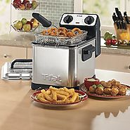 Best Electric Deep Fryers | T-fal FR4049 Family Pro 2.6-Pound 3-Liter Deep Fryer with Stainless Steel Waffle, Silver