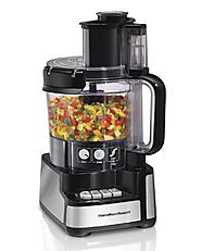 Top Rated Food Processors | Hamilton Beach 70725A 12-Cup Stack and Snap Food Processor