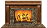 where buy cardboard fireplace