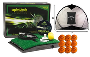 OptiShot Home Simulator Bundle - Includes Callaway Net, 18 FREE HX Practice Balls, 3 Extra US Open Virtual Courses