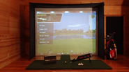 12'x9' OPTISHOT Home Virtual Golf Simulator ULTI STUDIO COMBO