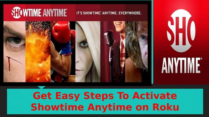 where do i enter activation code for showtime anytime