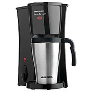 Best Rated Single Serve Coffee Makers | Black & Decker DCM18S Brew 'n Go Personal Coffeemaker with Travel Mug