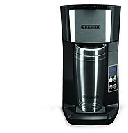 Best Rated Single Serve Coffee Makers | Black & Decker CM625B Programmable Single Serve Coffee Maker with Travel Mug, Black